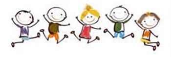 Spielende Kinder Zeichnung